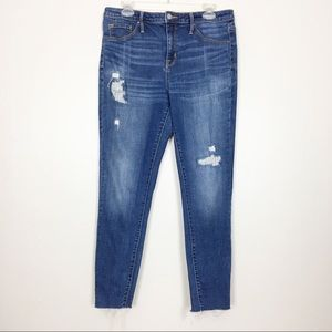 Mossimo Distressed High Rise Jegging Jeans- 12